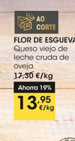 Oferta de Queso viejo de leche cruda de oveja Flor de Esgueva por 13,95€