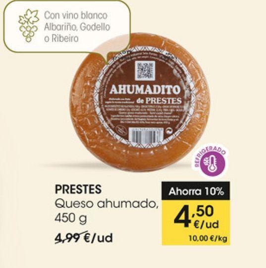 Oferta de Queso ahumado, 450 g, PRESTES por 4,5€