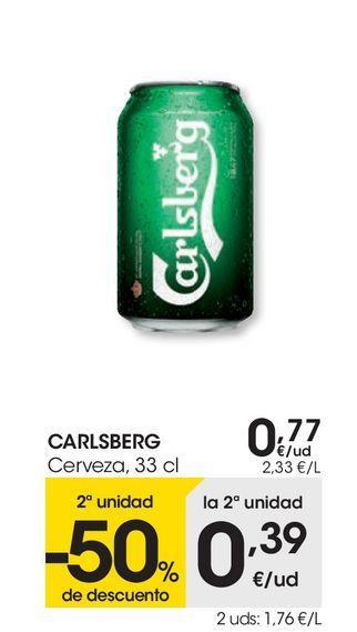 Oferta de Cerveza  33 cl Carlsberg por 0,77€
