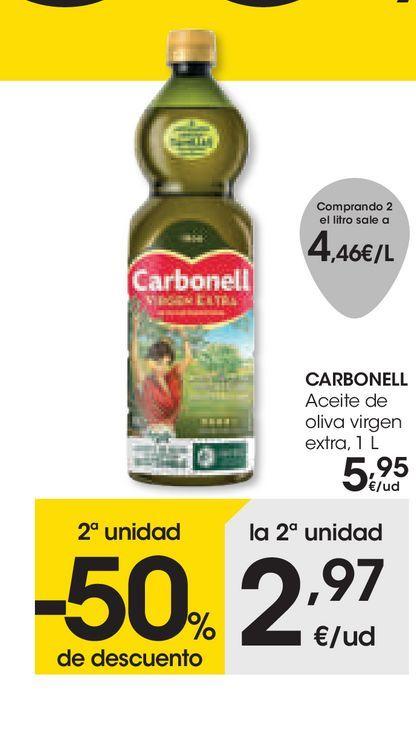 Oferta de Aceite de oliva virgen extra Carbonell 1L por 5,95€