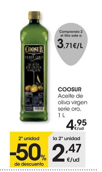 Oferta de Aceite de oliva virgen serie oro, 1 L  Coosur por 4,95€