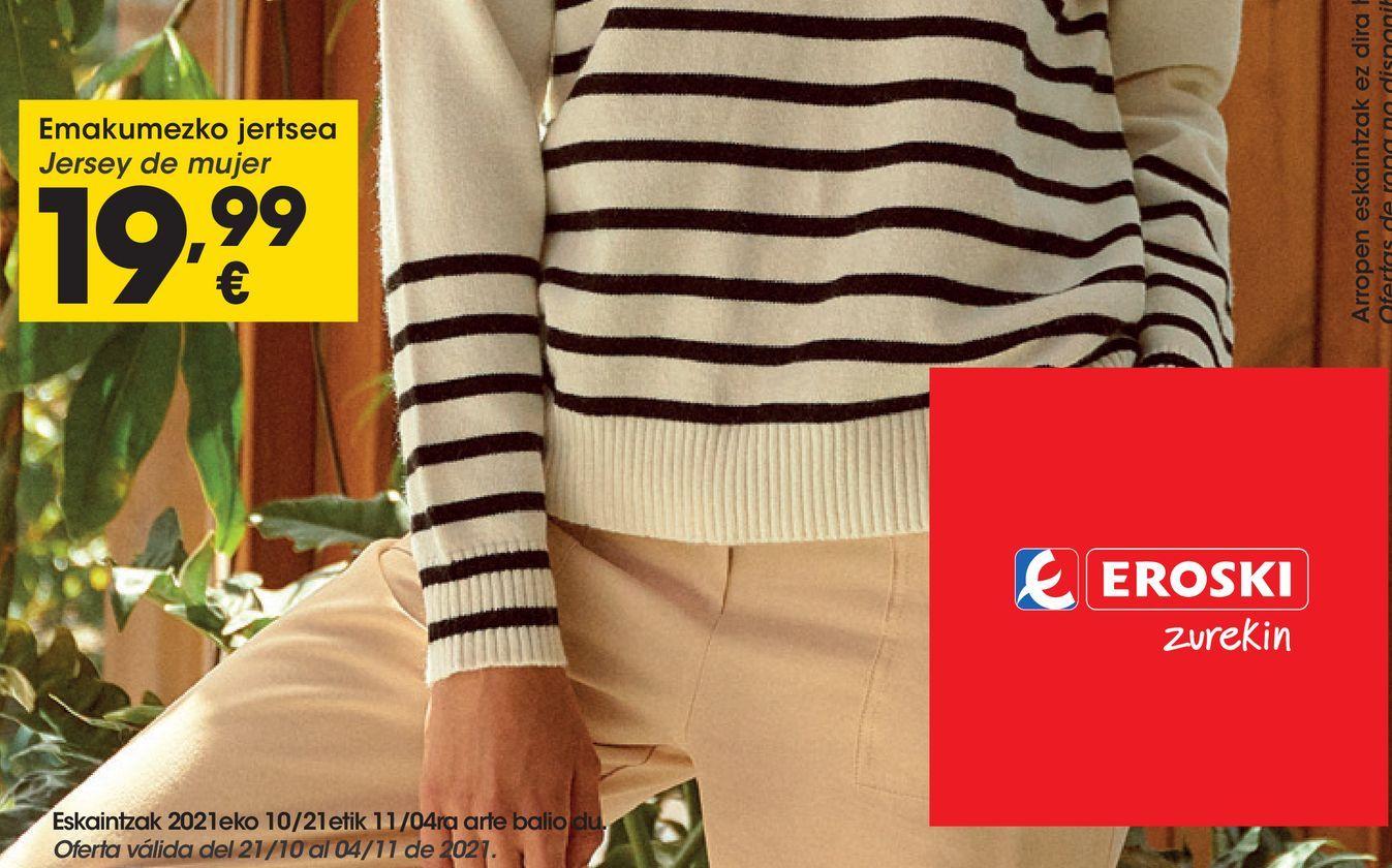 Oferta de Jersey de  mujer por 19,99€