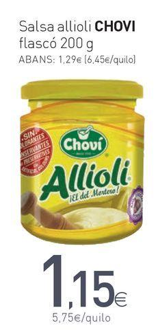 Oferta de Salsa allioli CHOVI flascó por 1,15€