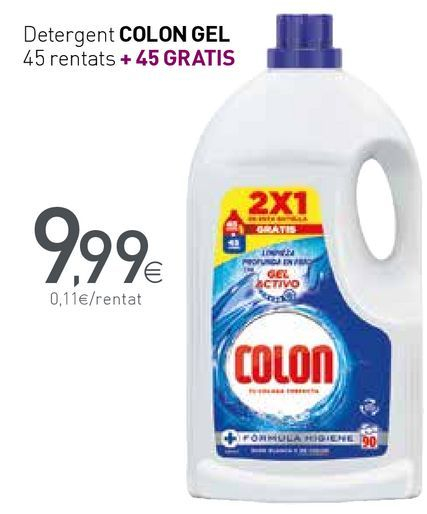 Oferta de Detergent COLON GEL 45 rentats por 9,99€