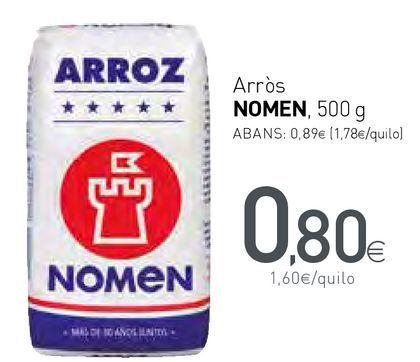 Oferta de Arròs NOMEN  por 0,8€