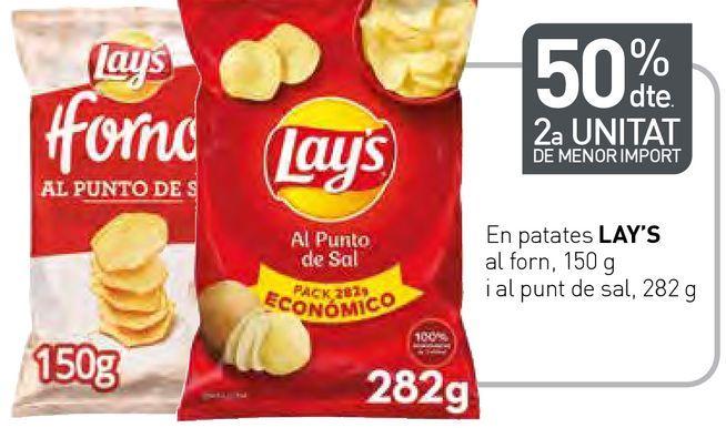 Oferta de En patates LAY'S al forn i al punto de sal por