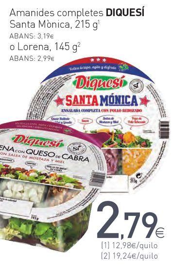 Oferta de Amanides completes DIQUESÍ Santa Mónica por 2,79€