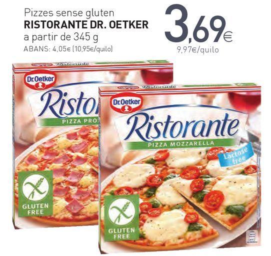 Oferta de Pizzes sense gluten RISTORANTE DR.OETKER por 3,69€