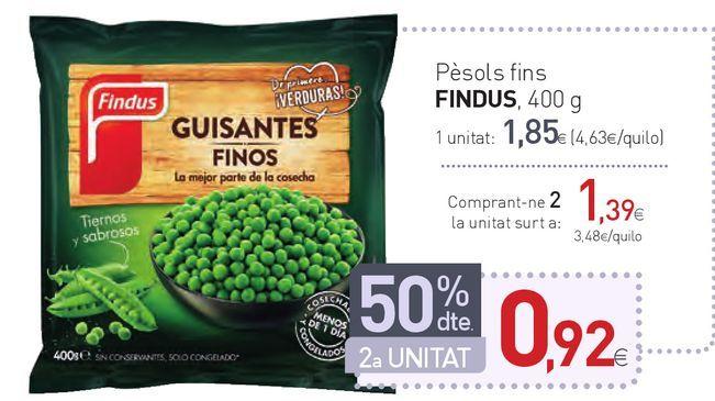 Oferta de Pèsols fins FINDUS por 1,85€