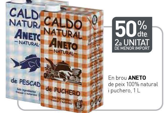 Oferta de En brou ANETO de peix 100% natural i puchero por