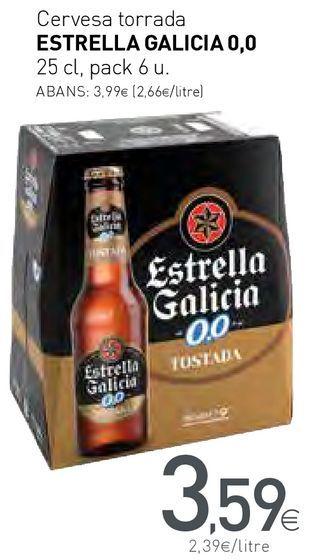 Oferta de Cervesa torrada ESTRELLA GALICIA 0,0 por 3,59€