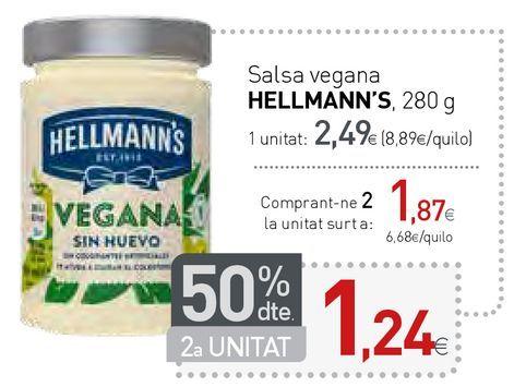 Oferta de Salsa vegana HELLMANN'S  por 2,49€