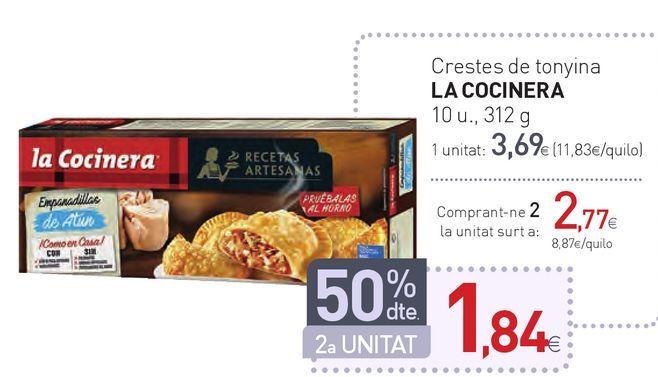 Oferta de Crestes de tonyina LA COCINERA por 3,69€