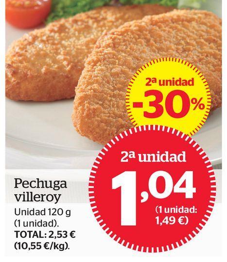 Oferta de Pechuga de pollo por 1,04€