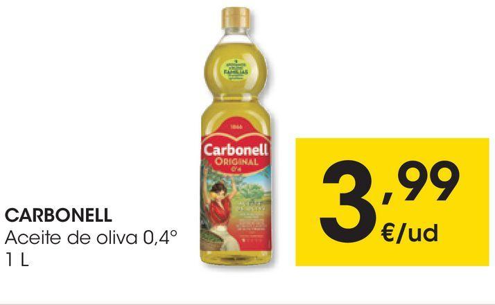 Oferta de CARBONELL Aceite de oliva 0,4º 1 L por 3,99€