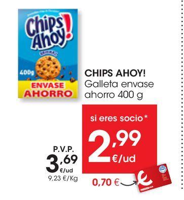 Oferta de Galleta envase ahorro CHIPS AHOY! 400 g por 3,69€