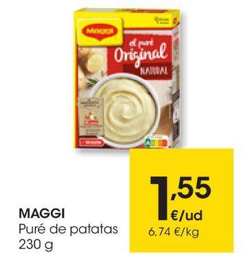 Oferta de Puré de patatas 230 g MAGGI por 1,55€