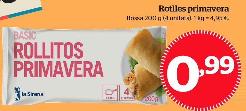 Oferta de Rollitos de primavera por 0,99€