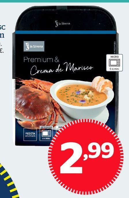 Oferta de Crema de marisco por 2,99€