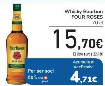 Oferta de Whisky Bourbon FOUR ROSES  por 15,7€