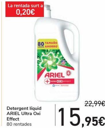 Oferta de Detergente líquido ARIEL Ultra Oxi Effect  por 15,95€