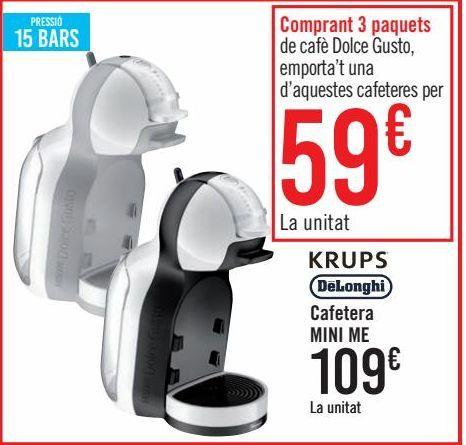 Oferta de KRUPS DëLonghi Cafetera MINI ME  por 109€