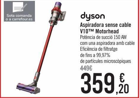 Oferta de Dyson Aspirador sin cable V10 Motorhead  por 359,2€