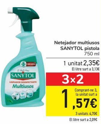 Oferta de Limpiador multiusos SANYTOL Pistola  por 2,35€