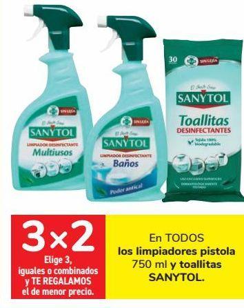 Oferta de En TODOS los limpiadores pistola y toallitas SANYTOL  por