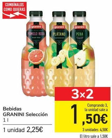 Oferta de Bebidas GRANINI Selección  por 2,25€