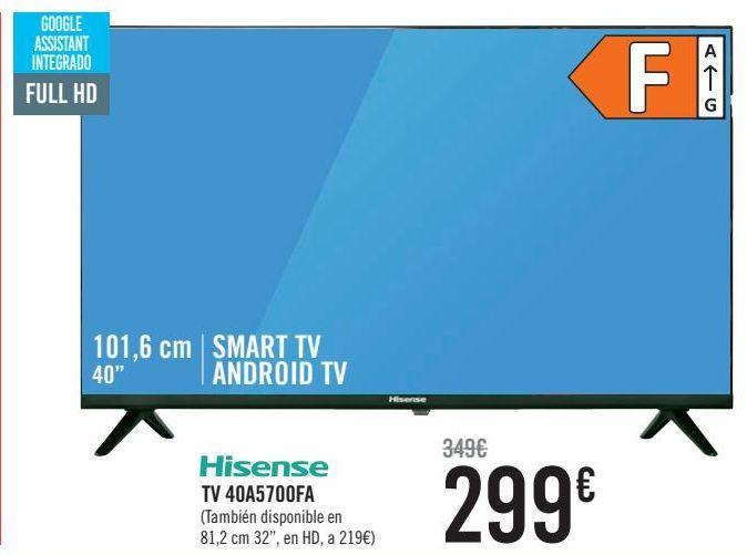 Oferta de Hisense TV 40A5700FA por 299€