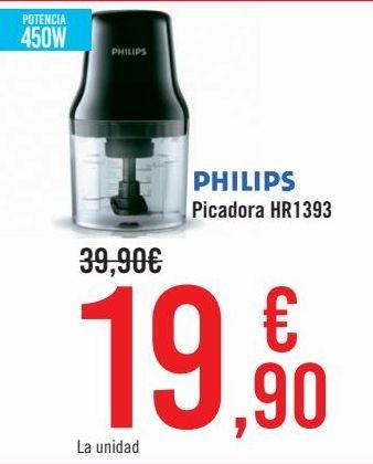 Oferta de PHILIPS Picadora HR1393  por 19,9€
