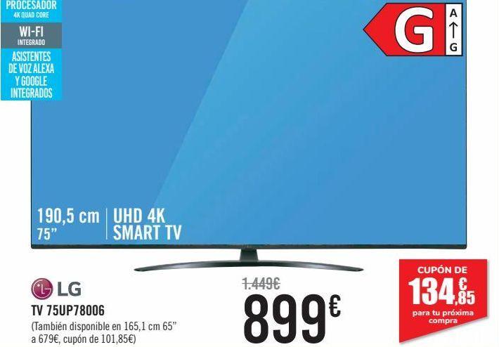 Oferta de TV 75UP78006 LG  por 899€