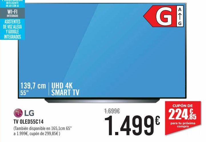 Oferta de LG TV OLED55C14  por 1499€