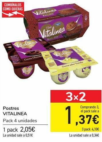 Oferta de Postres VITALINEA  por 2,05€