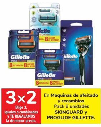 Oferta de En Maquinas de afeitado y recambio SKINGUARD y PROGLIDE GILLETTE por