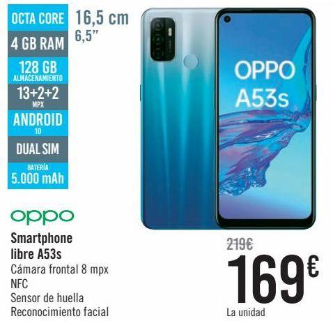 Oferta de Oppo Smartphone libre A53s  por 169€
