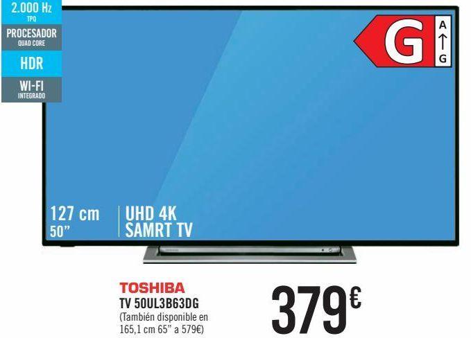 Oferta de TOSHIBA TV 50UL3B63DG por 379€