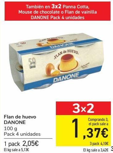 Oferta de Flan de huevo DANONE por 2,05€