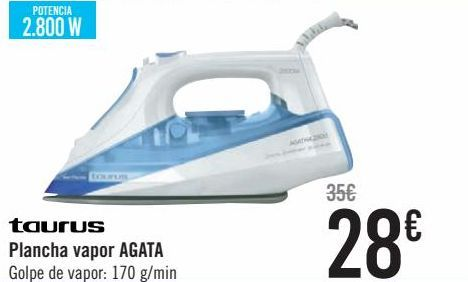 Oferta de Taurus Plancha vapor AGATA  por 28€