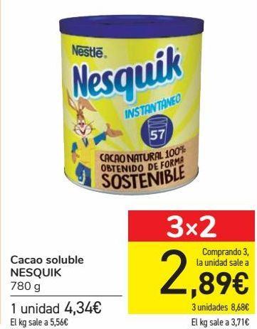 Oferta de Cacao soluble NESQUIK por 4,34€