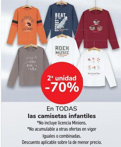 Oferta de En TODAS las camisetas infantiles  por