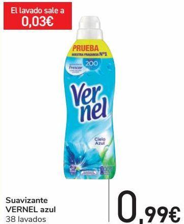 Oferta de Suavizante VERNEL Azul  por 0,99€