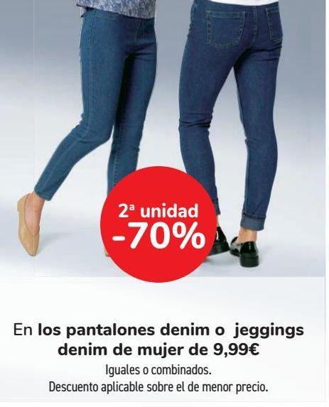 Oferta de En los pantalones denim o jeggings denim de mujer de 9,99€  por