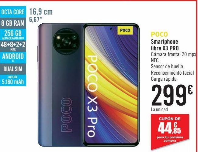 Oferta de POCO Smartphone libre X3 PRO  por 299€