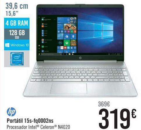 Oferta de Hp Portátil 15s- Fq0002ns  por 319€