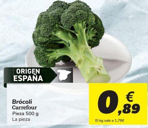Oferta de Brócoli Carrefour por 0,89€