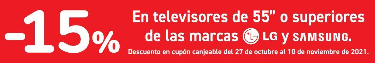 Oferta de En televisores de 55'' o superiores de las marcas LG y SAMSUNG  por