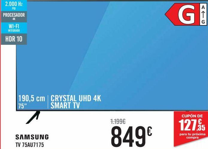 Oferta de SAMSUNG TV 75AU7175  por 849€