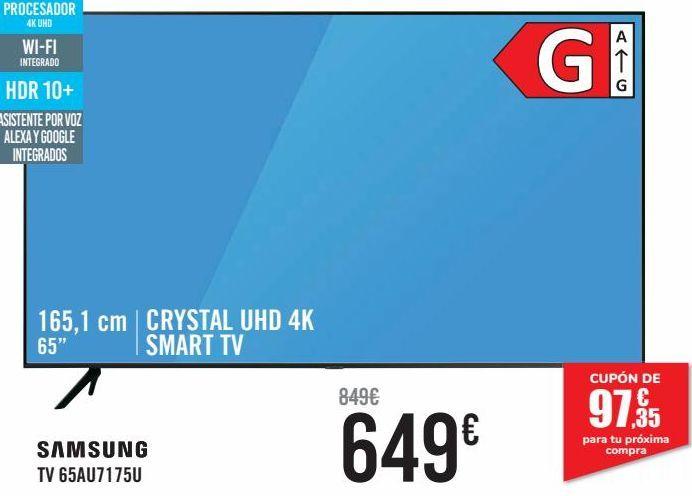 Oferta de SAMSUNG TV 65AU7175U  por 649€